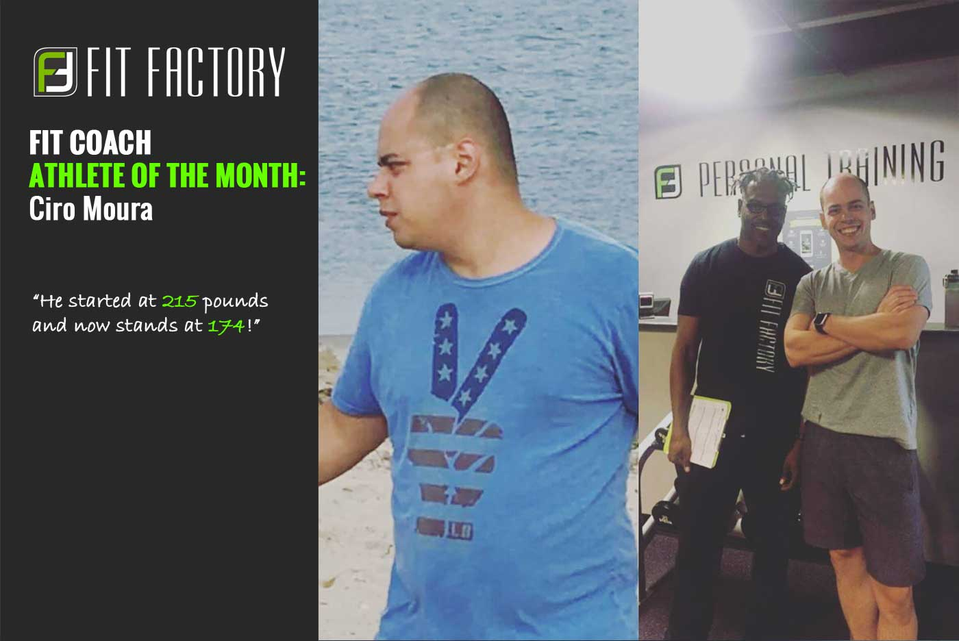 Fit Coach Athlete of the Month:  Ciro Moura