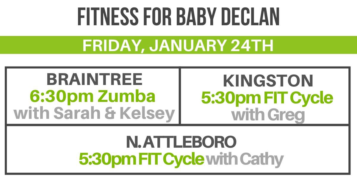 Baby Declan Group Fitness Schedule
